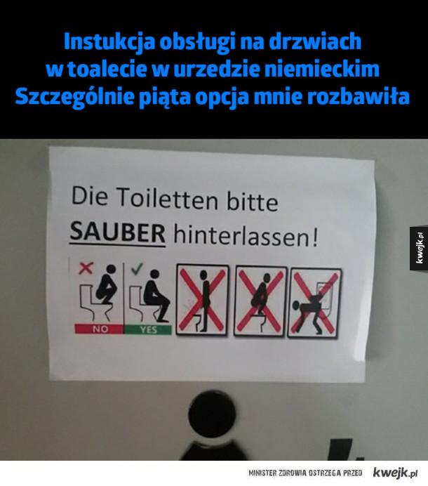 Instrukcja obsługi toalety