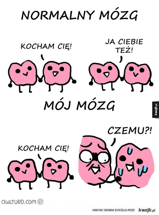 Zabawne komiksy Owlturd o relacji z mózgiem