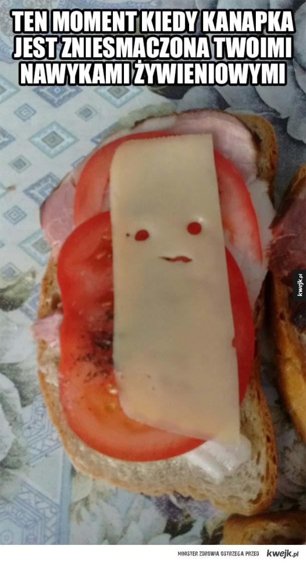 Zdegustowana kanapka