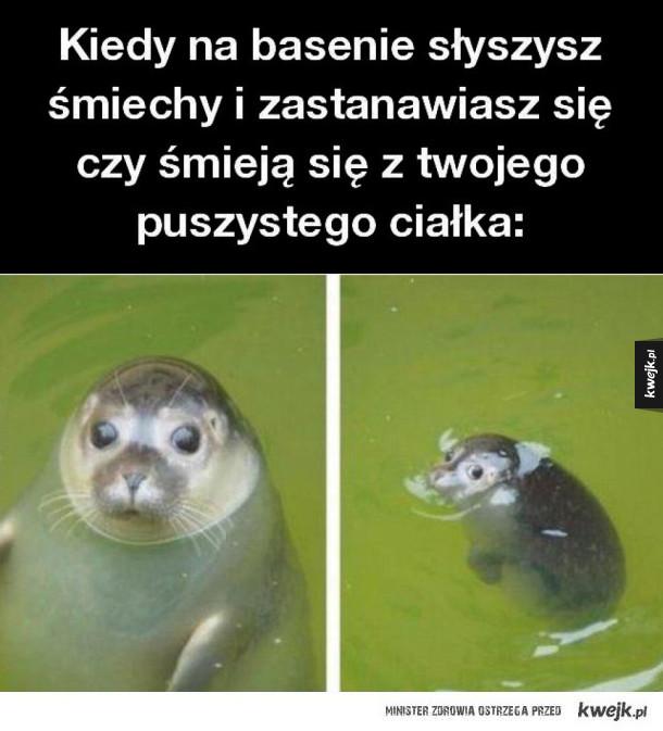Kiedy na basenie słyszysz śmiechy
