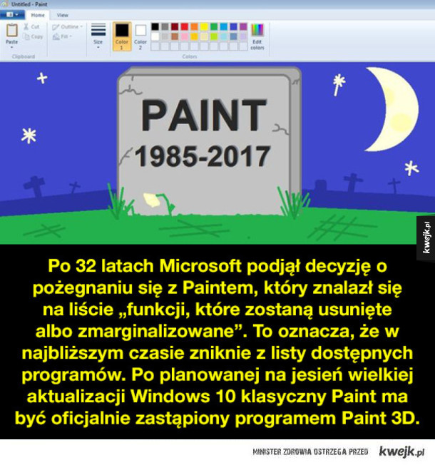 Żegnaj, Paint