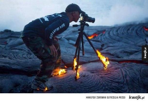 Ciężka praca fotografa