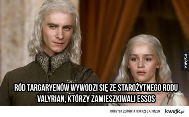 """""""Historyczne"""" ciekawostki o ludzie Valyrian z Gry o Tron"""