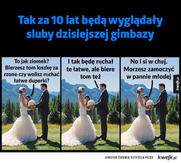 Tak będą wyglądały śluby