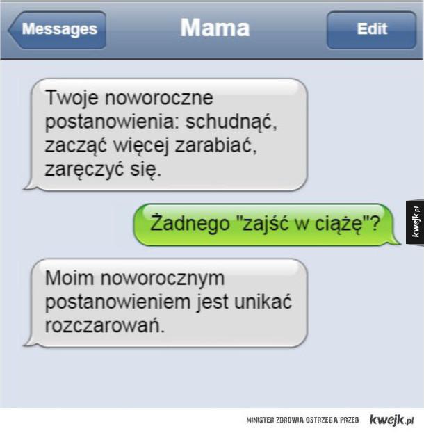 Smsy apodyktycznych matek wysłane do córek