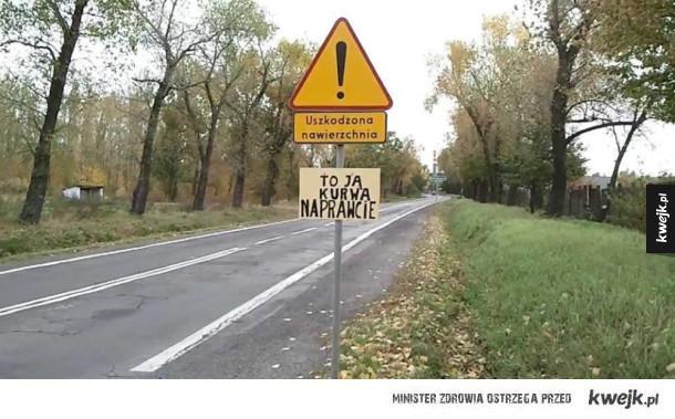 Ale znak postawili