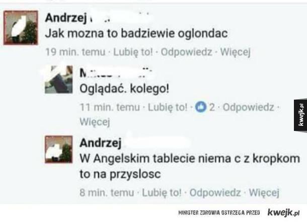 Andrzej za granicą