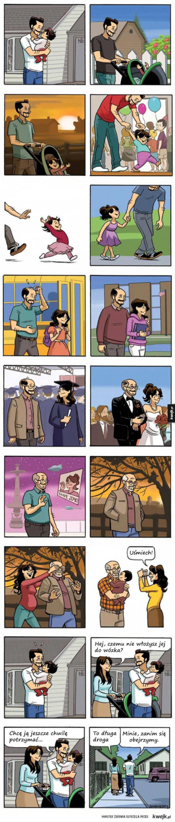 Wzruszający komiks o rodzicielstwie i przemijaniu