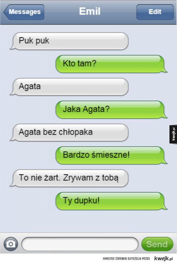 Zerwanie za pomocą smsu