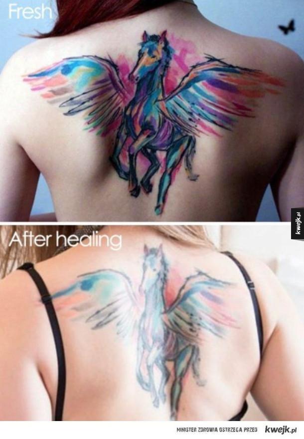 Dowody na to, że z upływem czasu tatuaże już nie wyglądają tak zjawiskowo