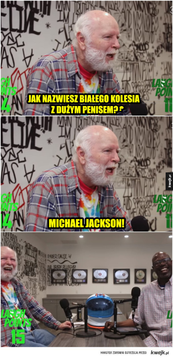 Dziadek się uśmiał :D