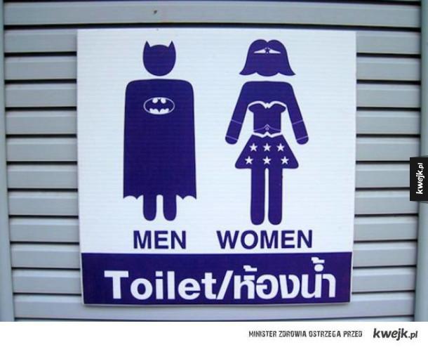 Kreatywne oznaczenia toalet