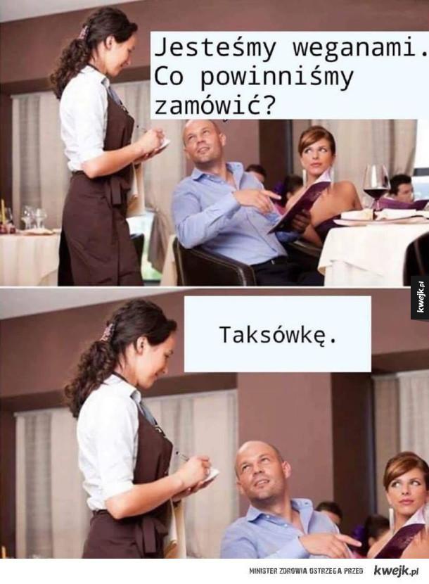 Weganie w restauracji