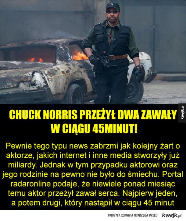 Chuck Norris przeżył dwa zawały serca!