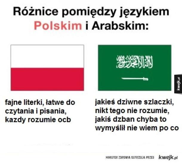 Różnica między Polskim, a Arabskim