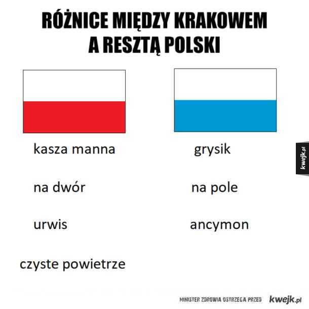 Różnice między Krakowem a resztą Polski