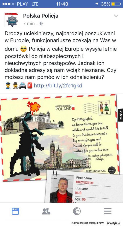 Tymczasem na fp Polskiej Policji