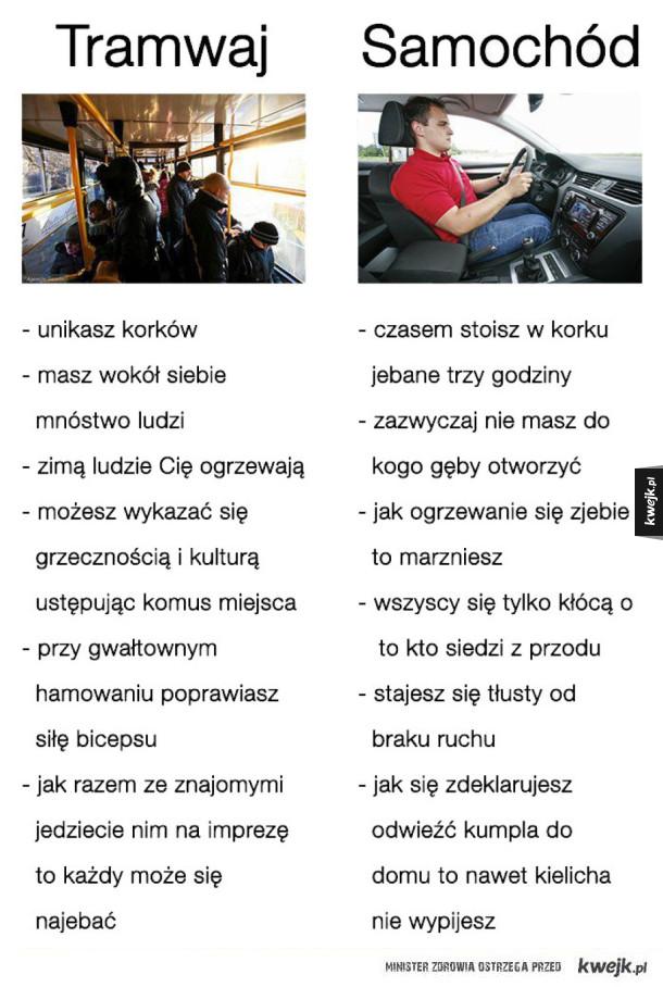 Tramwaj vs. samochód