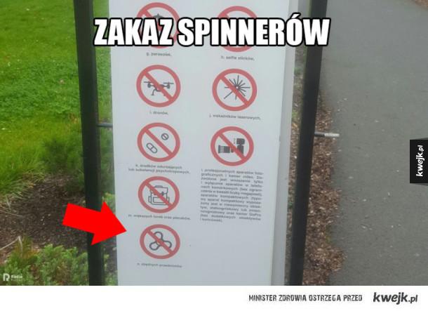 Zakaz spinnerów