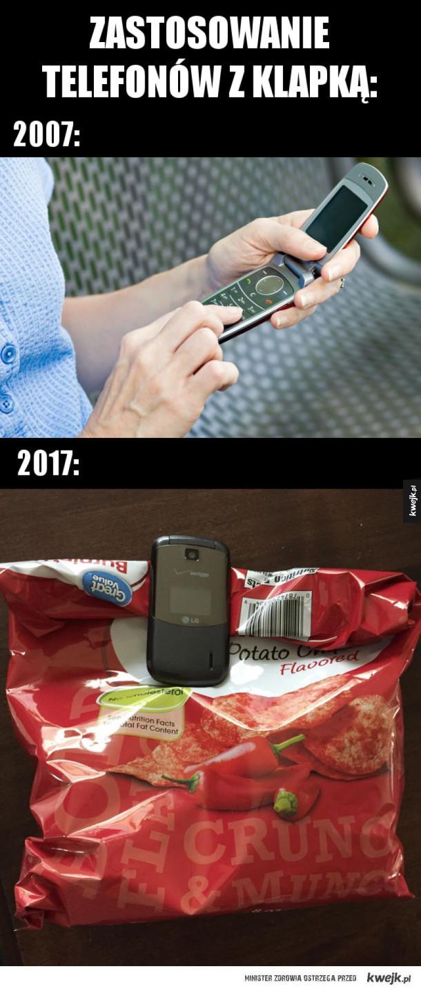 Zastosowanie telefonów z klapką