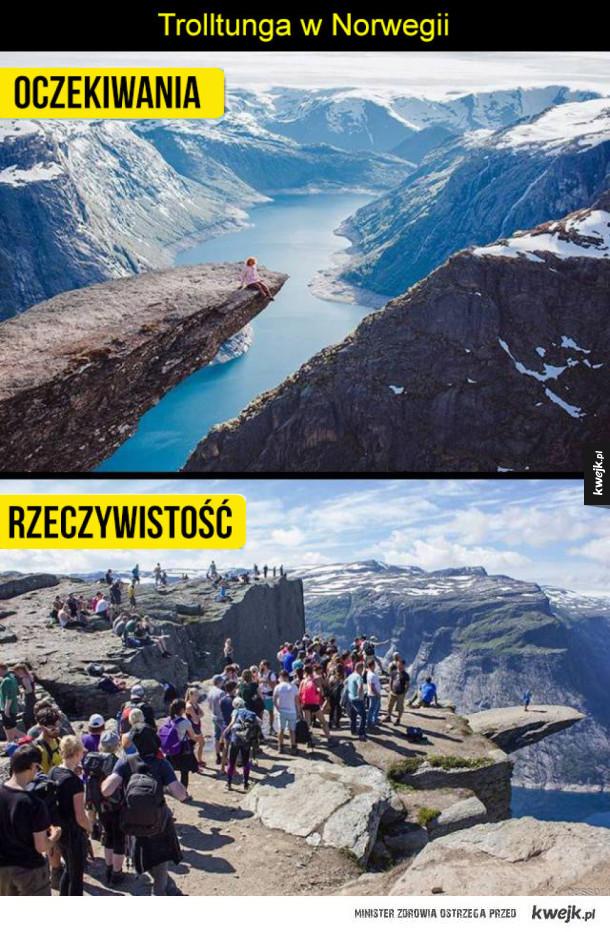 Popularne atrakcje turystyczne, oczekiwania vs rzeczywistość
