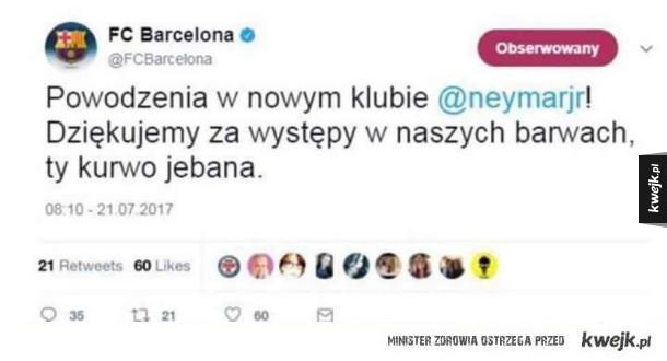 Barcelona dziękuje Neymarowi