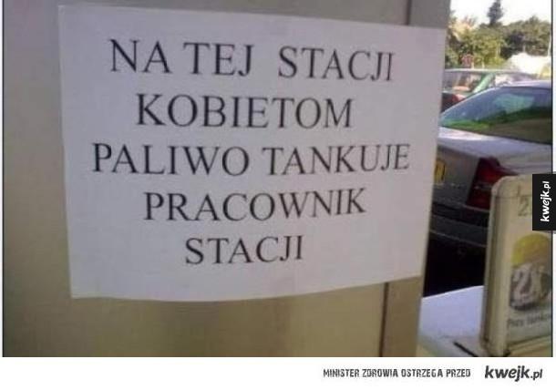 ogłoszenie na stacji