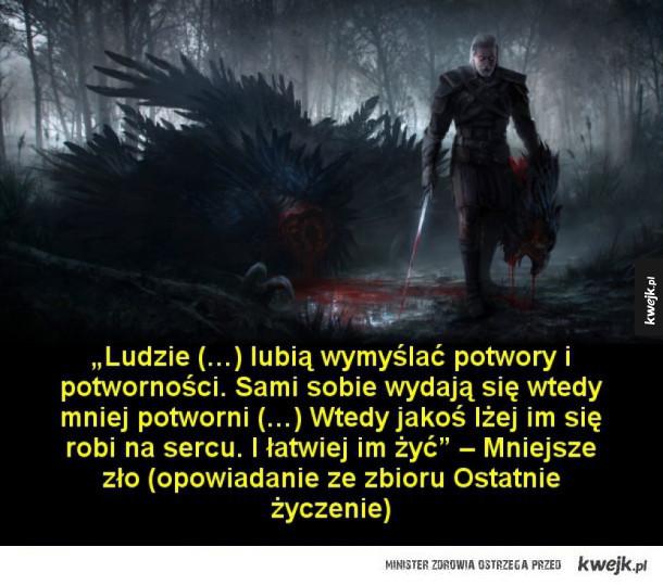 Cytaty z opowieści o wiedźminie Andrzeja Sapkowskiego