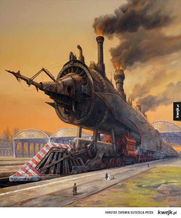Surrealistyczne obrazy autorstwa Jarosława Jaśnikowskiego