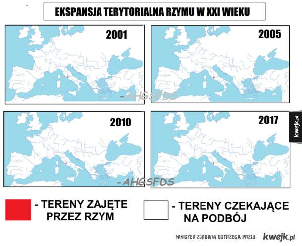 Ekspansja terytorialna Rzymu w XXI wieku