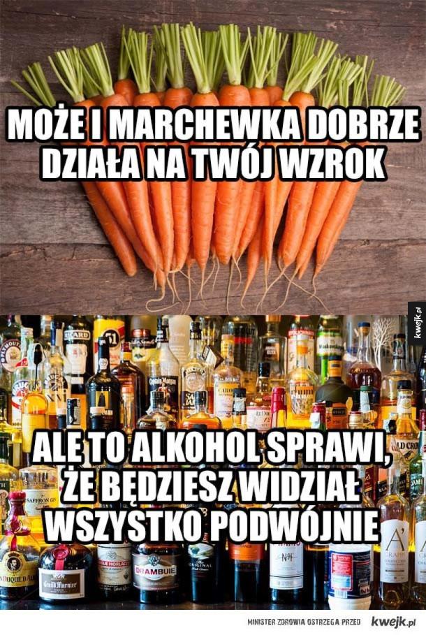 Alkohol lepszy niż marchewka