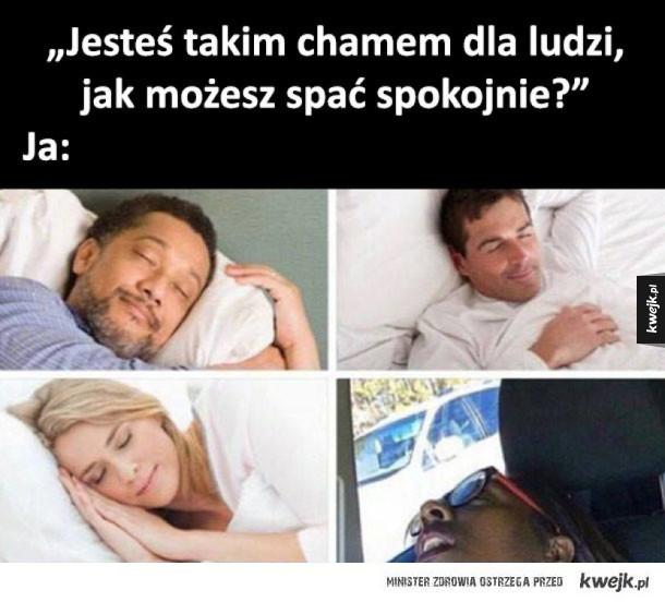jak mogę spać