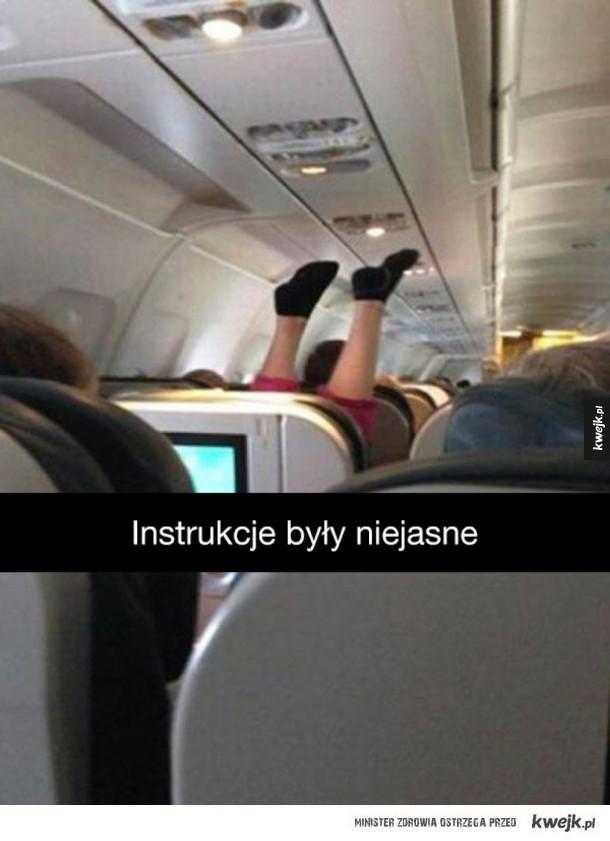 Tymczasem w samolotach