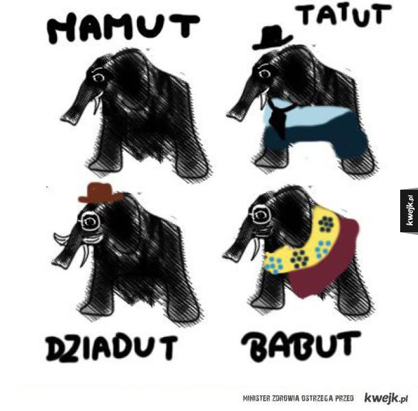 Mamut z rodziną