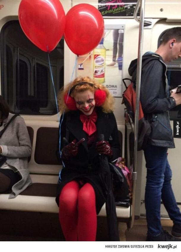 Dziwni ludzie w rosyjskim metrze