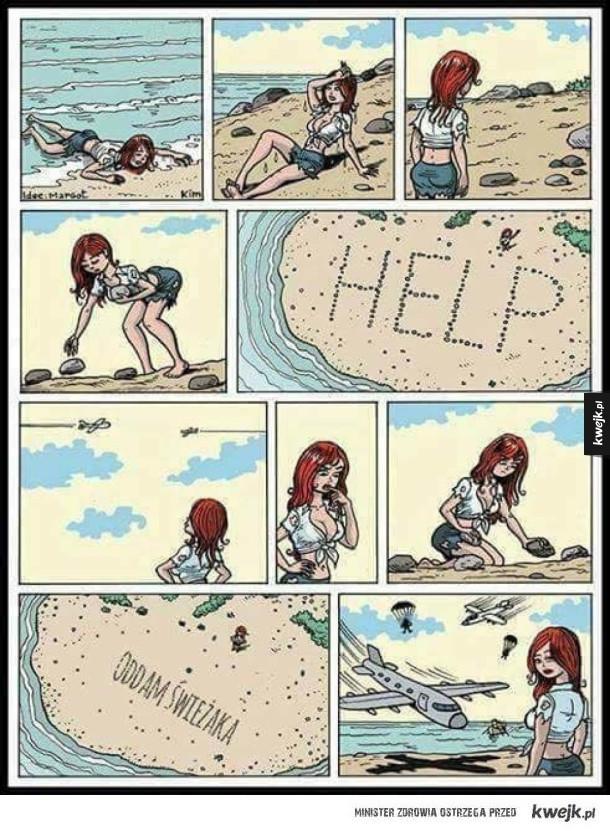 Jak zapewnić sobie ratunek z bezludnej wyspy