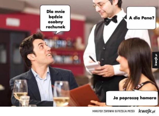 Prosty wybór w restauracji