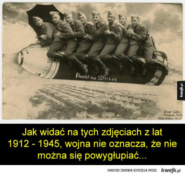 Wojskowe śmieszki na starych fotografiach