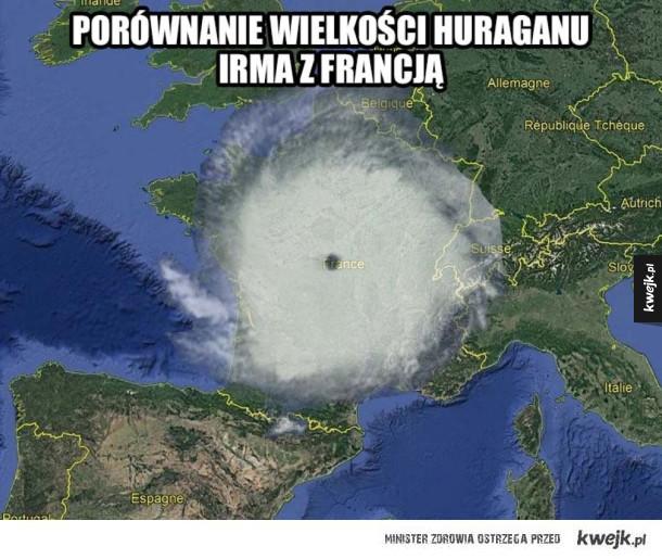 Całkiem spory ten huragan