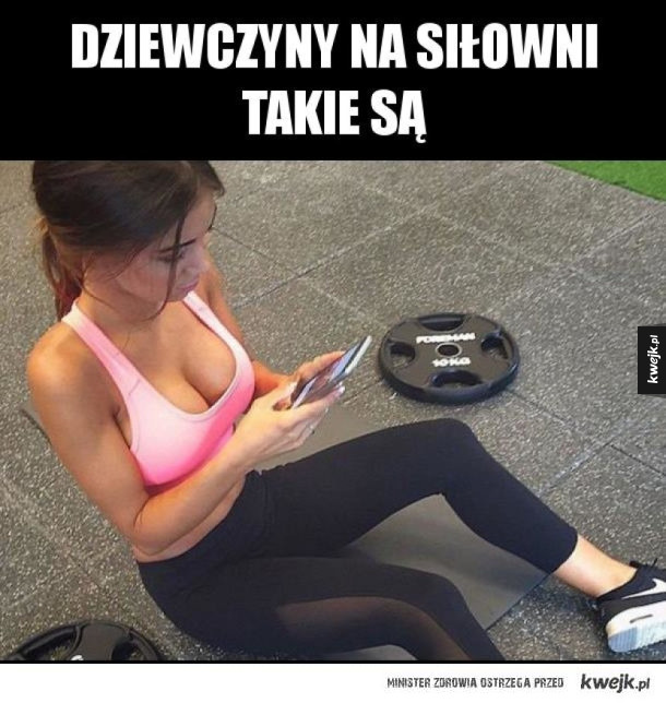 Na każdej siłowni znajdzie się taka dziewczyna