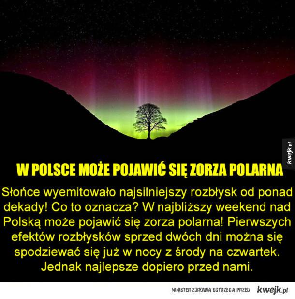 Możliwa zorza w Polsce