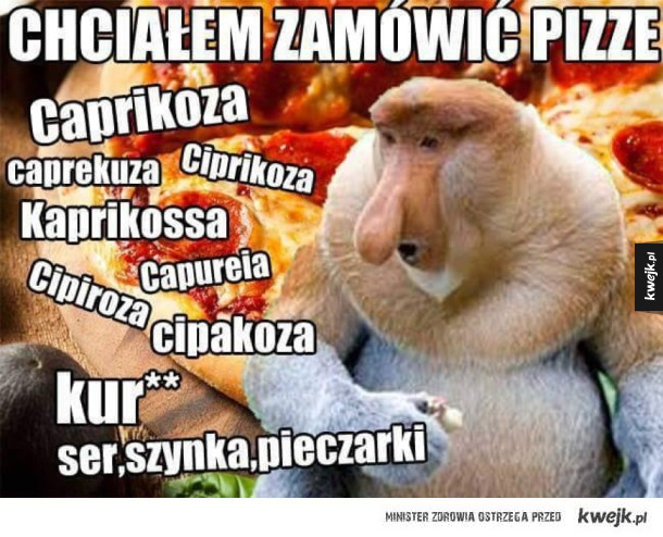 Zamawianie pizzy