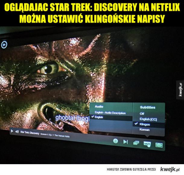Ukłon w stronę fanów Star Trek