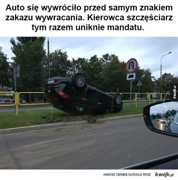Kierowca ma farta