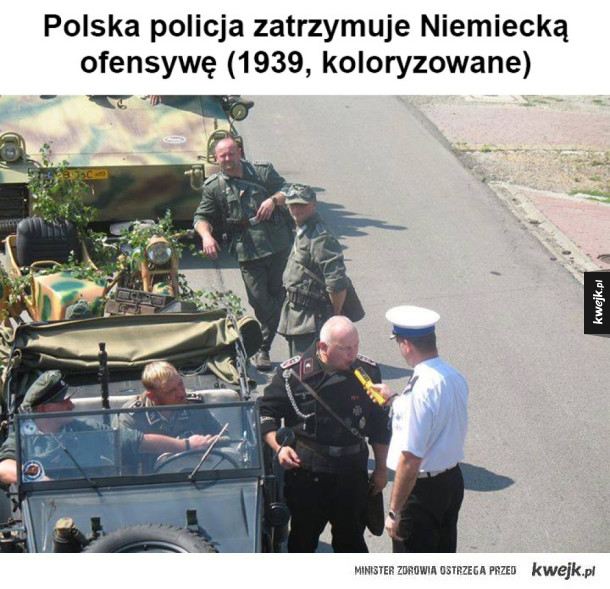 Dzielny polski policjant