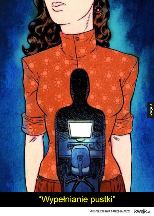 Przygnębiające podsumowanie dzisiejszego świata na ilustracjach Koren Shadmi