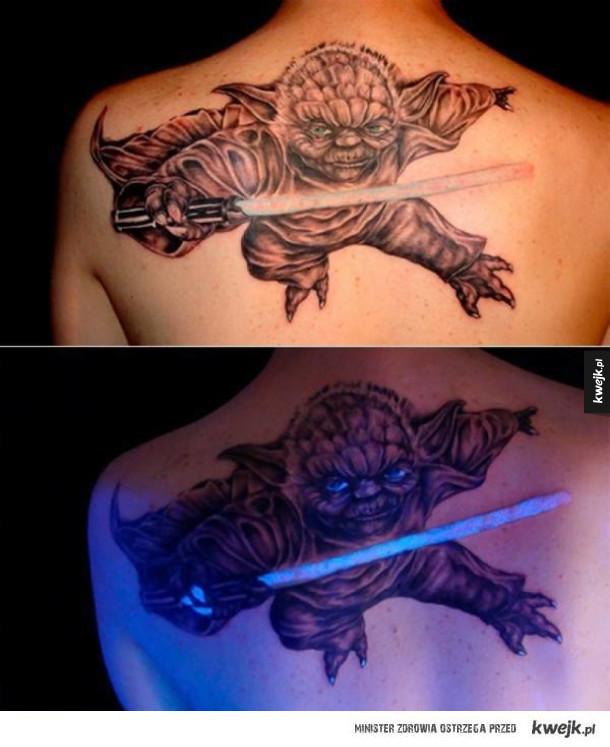 Tatuaże zmieniające się dzięki ultrafioletowi
