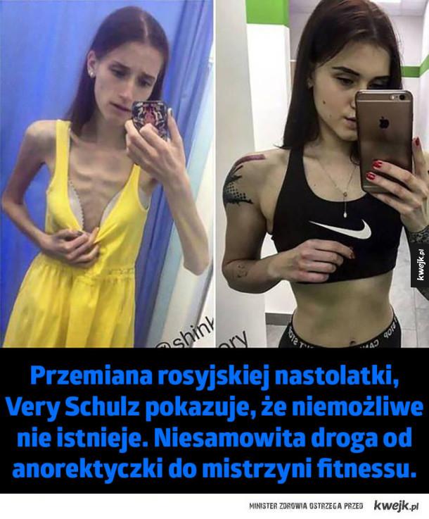 Przemiana rosyjskiej nastolatki - Przemiana rosyjskiej nastolatki, Very Schulz pokazuje, że niemożliwe nie istnieje. Niesamowita droga od anorektyczki do mistrzyni fitnessu