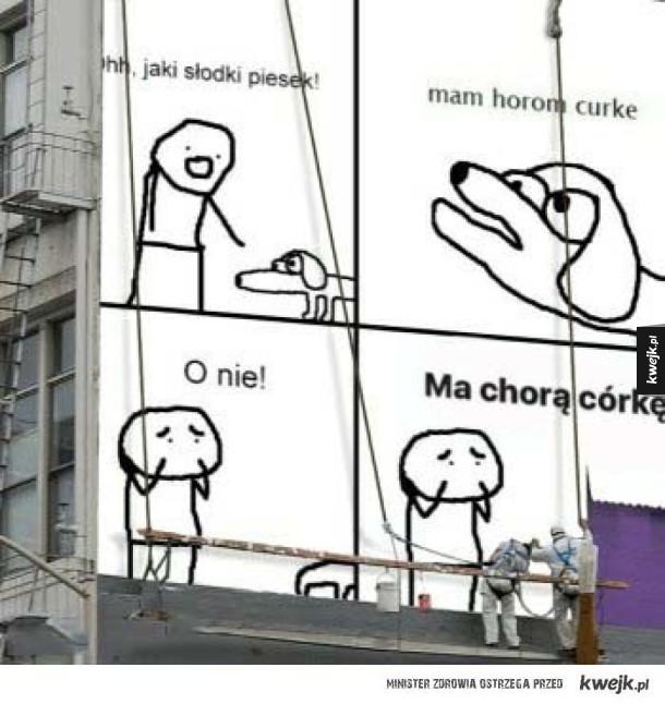 Meme na budynku