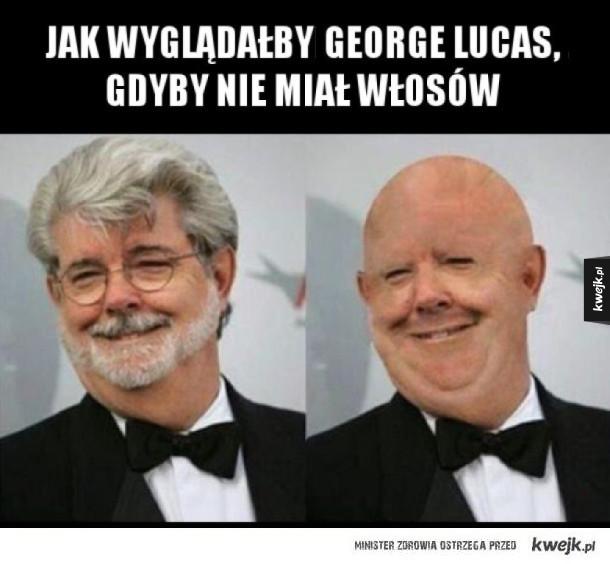 George Lucas bez włosów